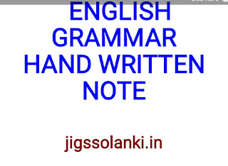 ENGLISH GRAMMAR HAND WRITTEN NOTE BY KD CAMPUS