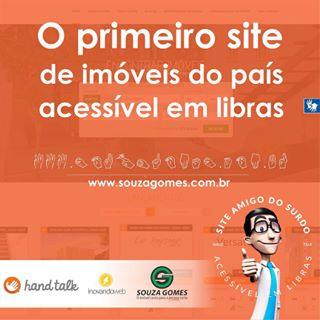 Site Imobiliária Souza Gomes acessível em libras
