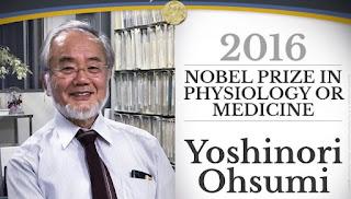 Prix Nobel de la médecine 2016: Yoshinori Ohsumi (Japon)