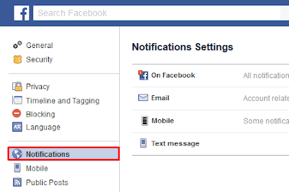 Cara Menghilangkan Notifikasi e-Mail Facebook