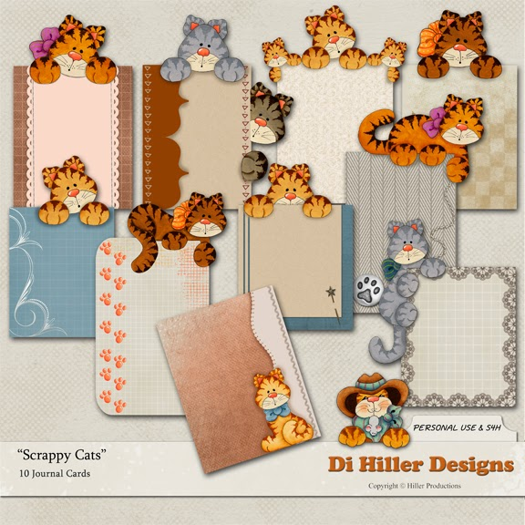 Scrappy Cats Journal Cards