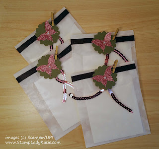 Decorated Stampin'UP! Sketched Dots Tag a Bag Gift Bags