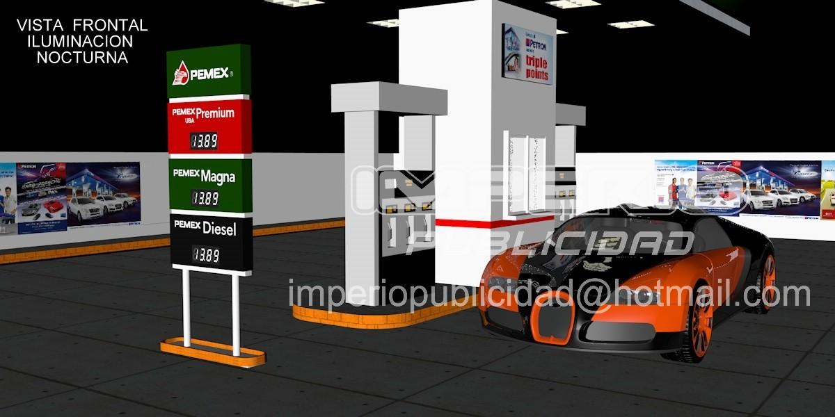 Tablero de precios digital pemex gasolineras - Tablero aglomerado precio ...