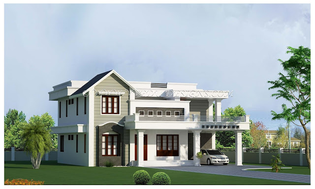 Kerala home designs for Veedu plans and elevations