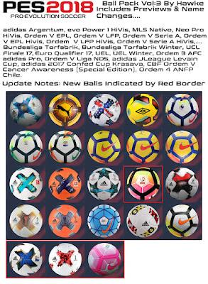 PES 2018 Ballpack Vol.3 by Hawke Season 2017/2018
