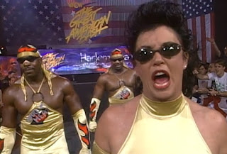 WCW Great American Bash 1997 - Sherri leads Booker T & Stevie Ray - Harlem Heat