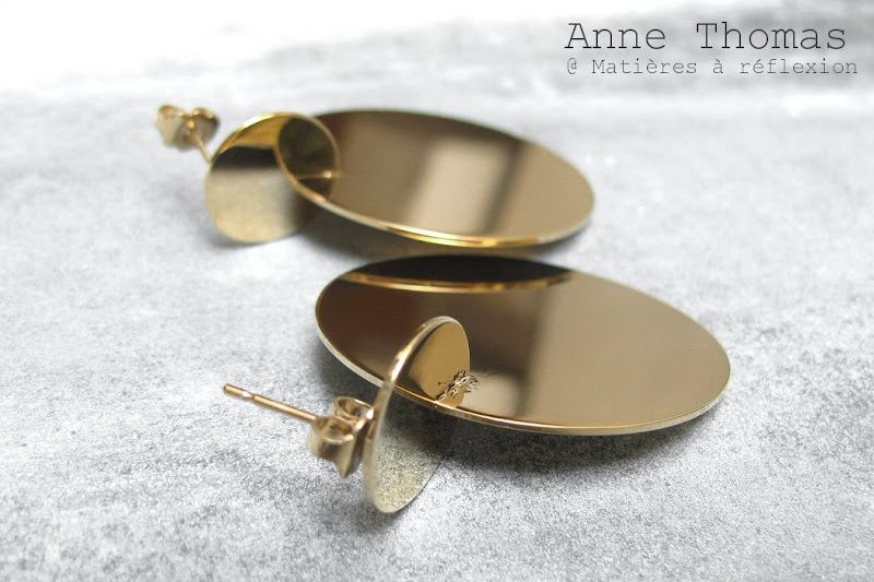 Boucles d'oreille disques Anne Thomas