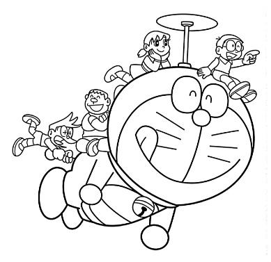 Download 45 Koleksi Gambar Doraemon Hitam Putih Untuk Mewarnai Terlucu