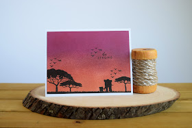 Safari Themed Sunset Card by Jess Crafts using Hero Arts My Monthly Hero June Kit
