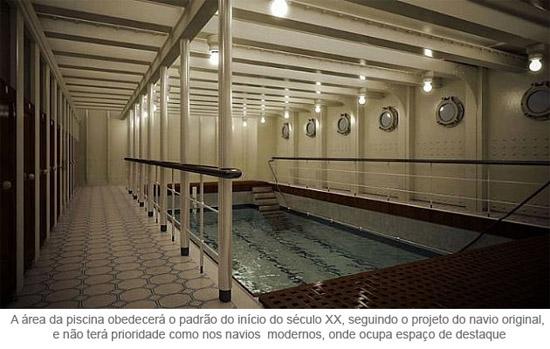 Titanic - área da piscina