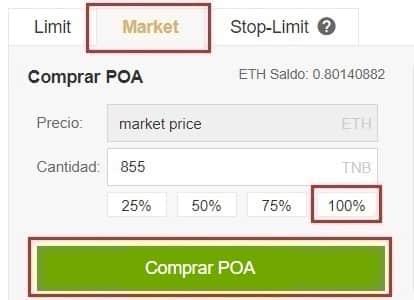Comprar y Guardar en Monedero POA Network (POA)
