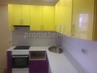 Жёлто-фиолетовый кухонный гарнитур
