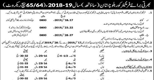 frontier corps fc jobs 2019 fc jobs 2019 for gd sipahi,latest fc jobs,career channel,careerchannel,medical & other trades (all pakistan),govt jobs,govtjobs,clerk,fc jobs,gd jobs,fc jobs 2019