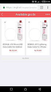 5000 Rupiah Dapat Barang Bermerek Remax Joy dari JD.ID