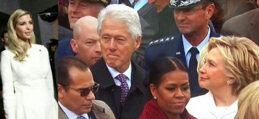 Video Kocak Bill Clinton Kepergok Hillary Saat Menatap Ivanka Trump