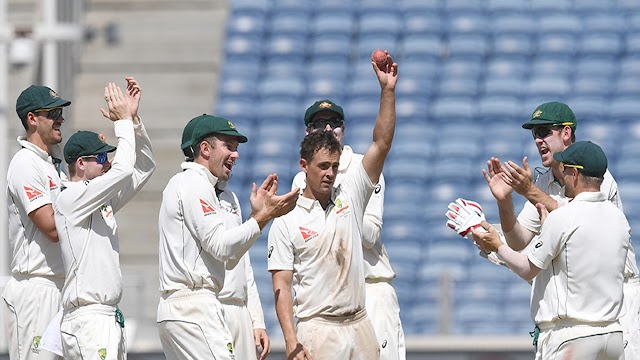 पुणे टेस्ट मेच भारत 333 रनों से हारा