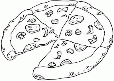 Gambar Mewarnai Pizza