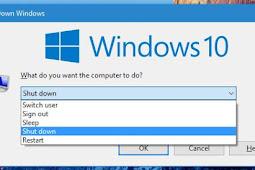Cara Mematikan Laptop dengan Keyboard Windows 10 & 8