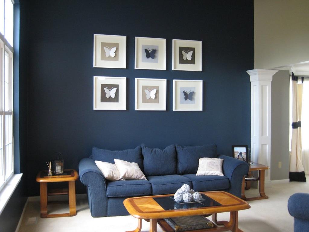 30 Fotos De Salas Decoradas Em Azul Decora O E Ideias -> Decoracao De Sala Azul