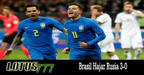 Brasil Hajar Rusia 3-0