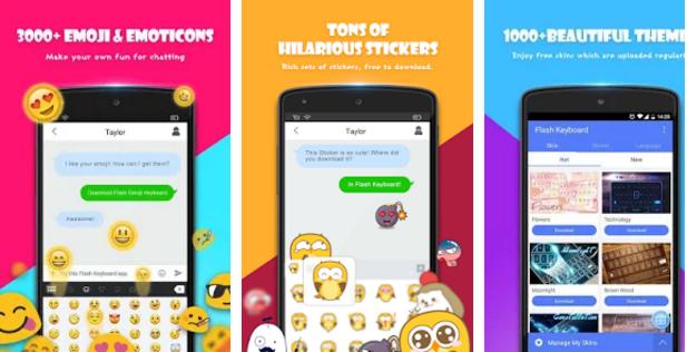 Free Download Flash Keyboard - Emoji & Theme Apk