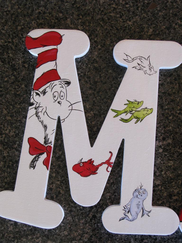 The Funky Letter Boutique Dr Seuss Children S Room Decor