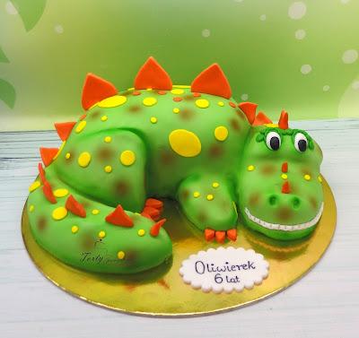 tort smok dla dzieci
