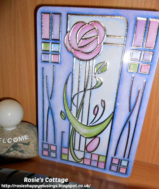 Beautiful Charles Rennie Mackintosh inspired biscuit tin