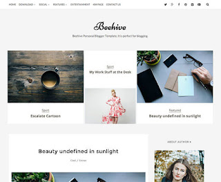 Beehive Blogger Template