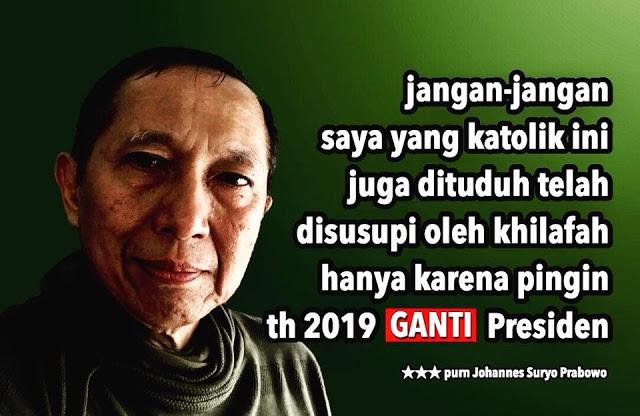 Suryo Prabowo: Jangan-jangan Saya juga Dituduh Disusupi Khilafah karena Ingin Ganti Presiden