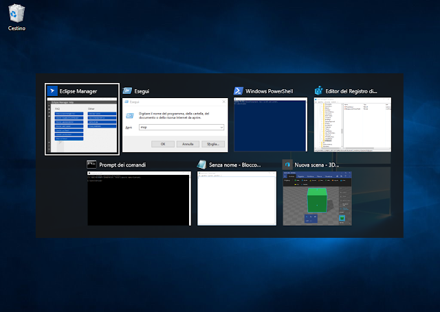 Windows 10, app switcher