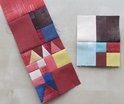 Luna Lovequilts - Mini quilt challenge - Work in progress