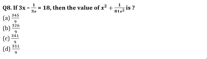 Algebra Questions for SSC CGL TIER-2 , SSC Stenographer & IB (ACIO) 2017_200.1
