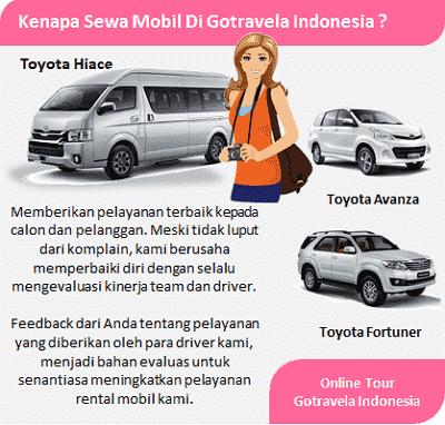 jasa sewa mobil online tour gotravela indonesia