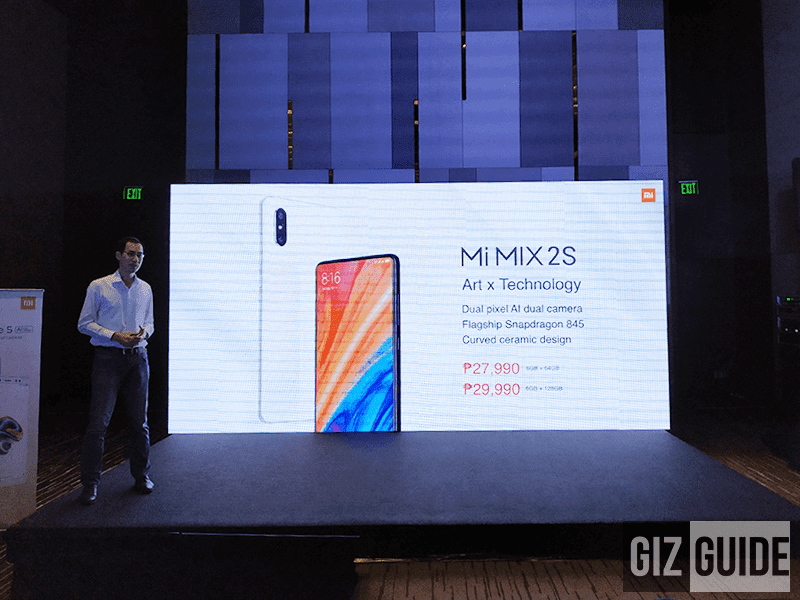 Xiaomi Mi MIX 2S with SD845 launched in PH too, price starts PHP 27,990!