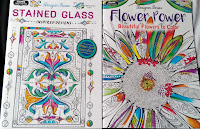Stained Glass Flower Power COLOR rainbow markers watercolor pencils Dollar Tree