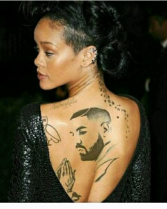 Drake new tattoo rihannas latest tattoo pictures to pin on for Drake new tattoo
