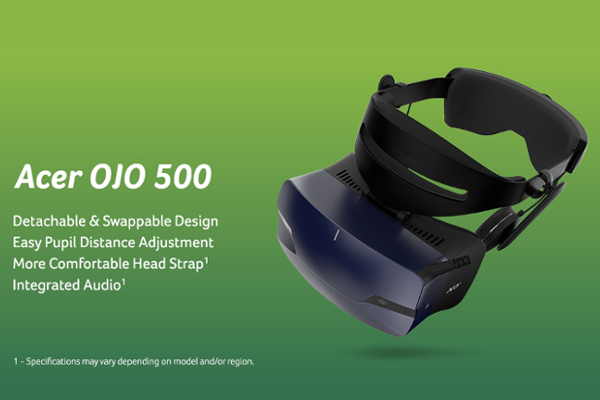 IFA 2018: Acer OJO 500 is the World's first Windows MR headset and first VR headset with a detachable design