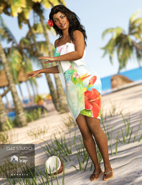Tropical Style Outfit for Genesis 3 Female
