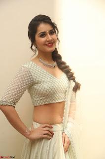 Raashi Khanan looks stunning in Crop Top Deep neck Choli Ghagra Transparent Chunni WOW ~  Exclusive Celebrities Galleries 139