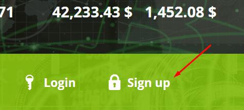 Регистрация в CryptoFound