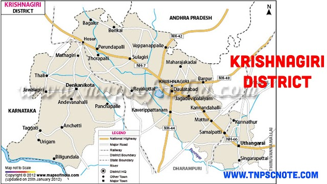 Krishnagiri District Information, Boundaries and History from Shankar IAS Academy