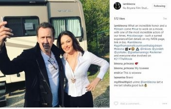 Bleona Qereti part of a Hollywood movie with Nicolas Cage