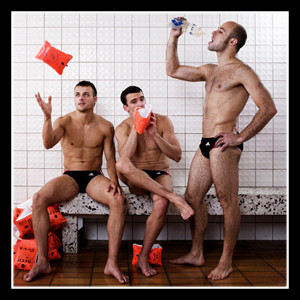 From left to right: Sascha Klein, Norman Becker and Pavlo Rozenberg • Divers