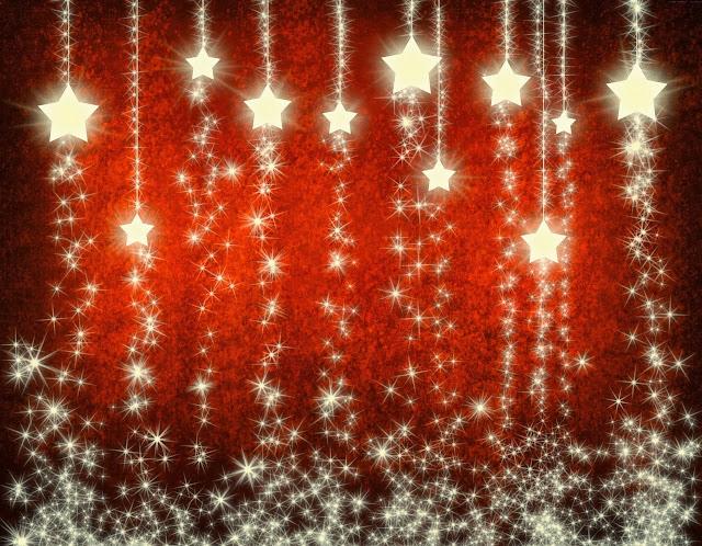 Rode kerst achtergrond met grote sterren