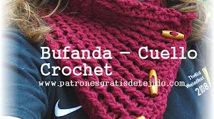 Cuello ~ Bufanda Crochet / Tutorial