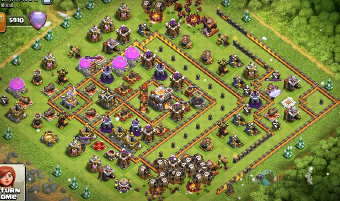 Base Trophy TH 11 COC Update Bomb Tower Terbaru 2017 Tipe 15