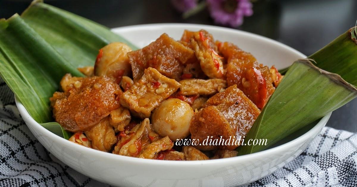 Resep Cake Pisang Diah Didi: Diah Didi's Kitchen: Sambel Goreng Tahu & Krecek