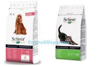 Logo #AbbaiaOMiagola il suo amore per Schesir e vinci gratis 20 forniture di prodotti per cani o gatti