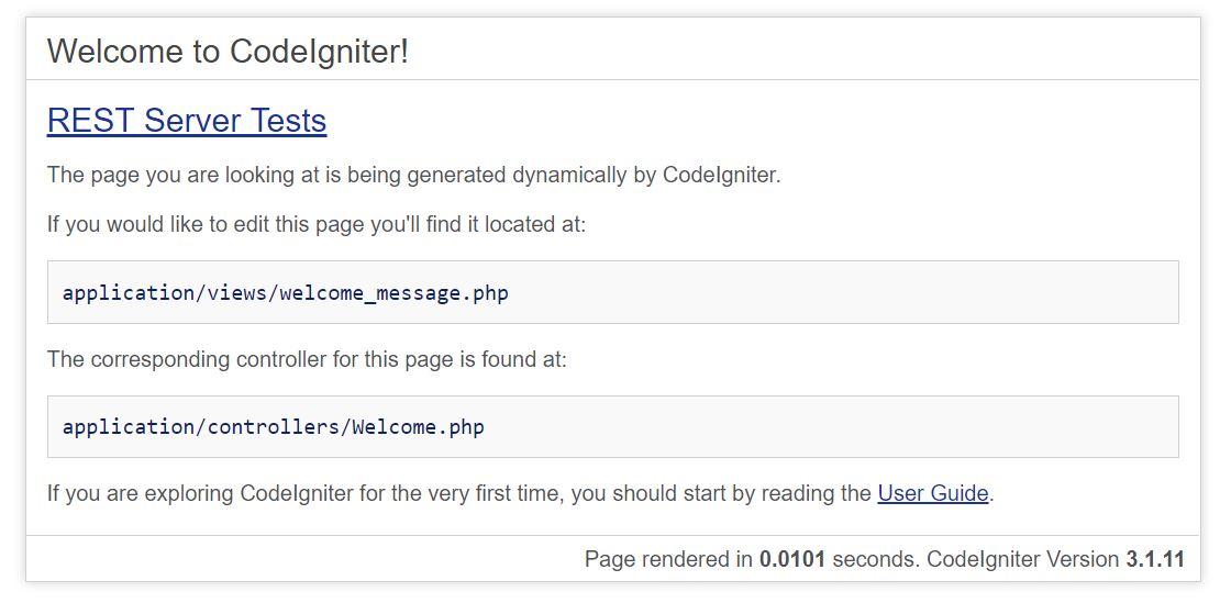 CodeIgniter REST API Server